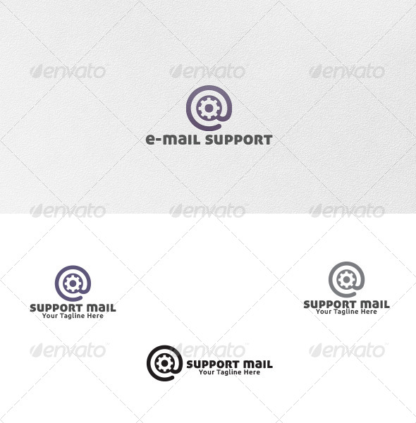 Support Mail - Logo Template - Symbols Logo Templates