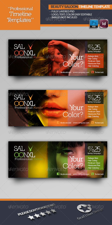 Beauty Saloon Timeline Template - Facebook Timeline Covers Social Media