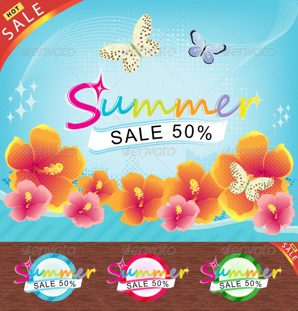 Summer Sale Theme ! - Conceptual Vectors