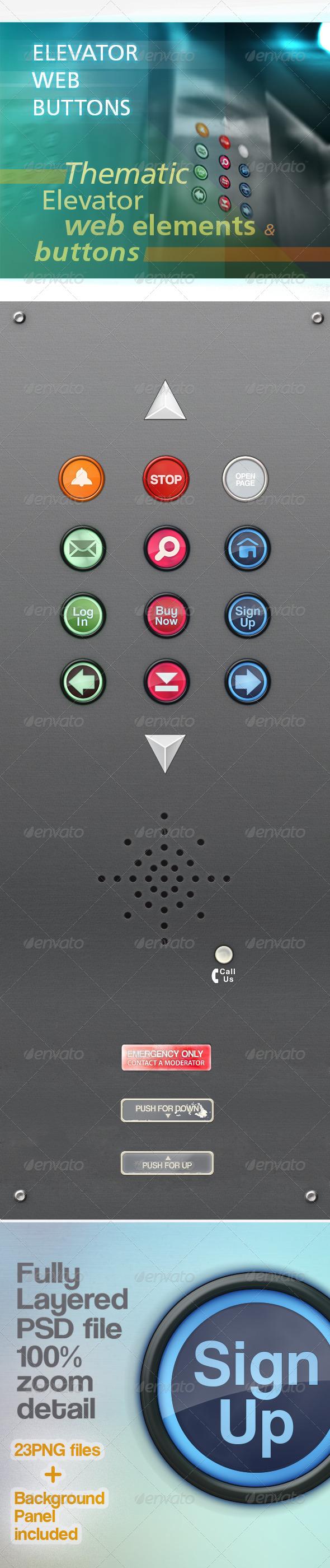Web Buttons Elements - Miscellaneous Web Elements