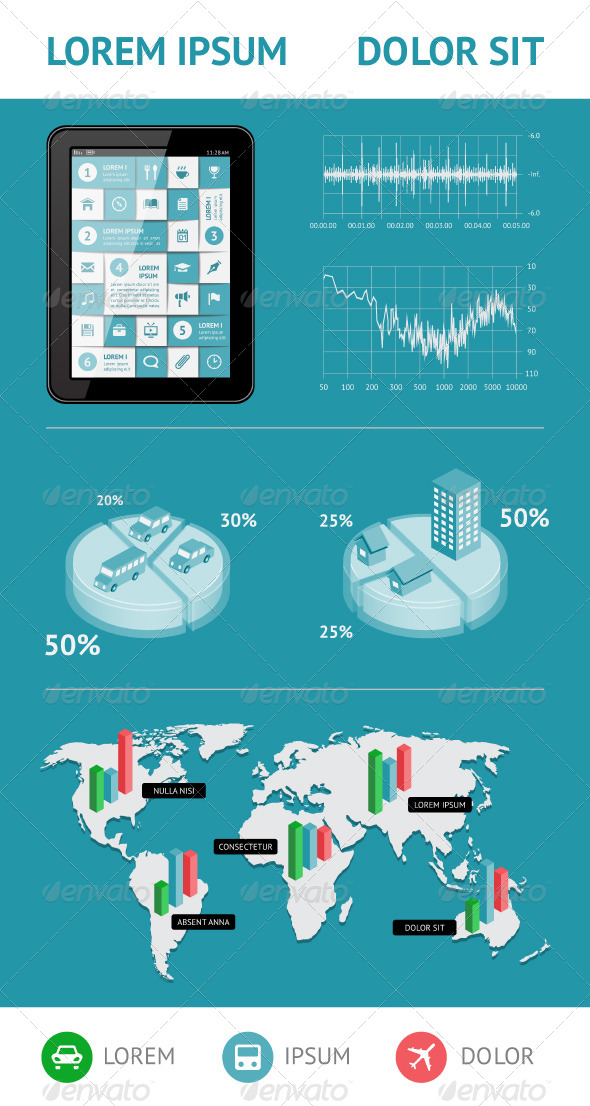 Infographics and Web Elements - Web Elements Vectors