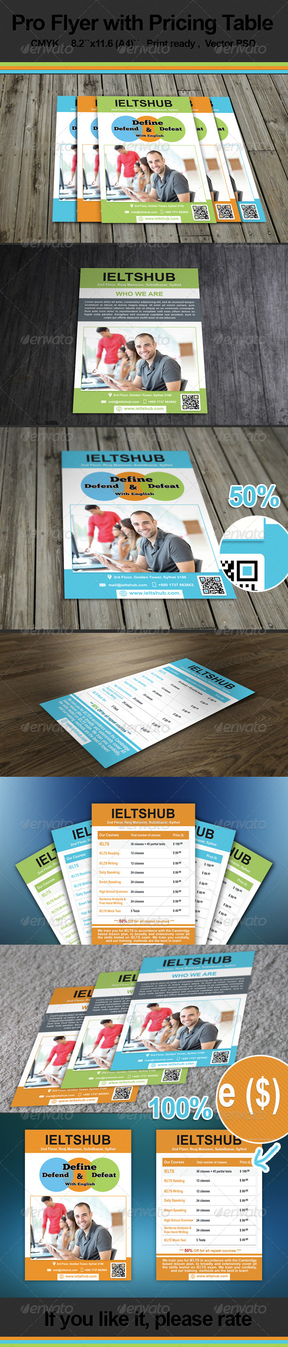 Pro Flyer with Pricing table - Corporate Flyers