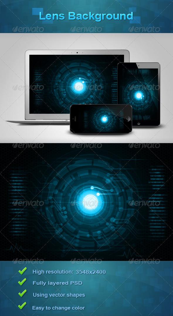 Lens Background - Tech / Futuristic Backgrounds