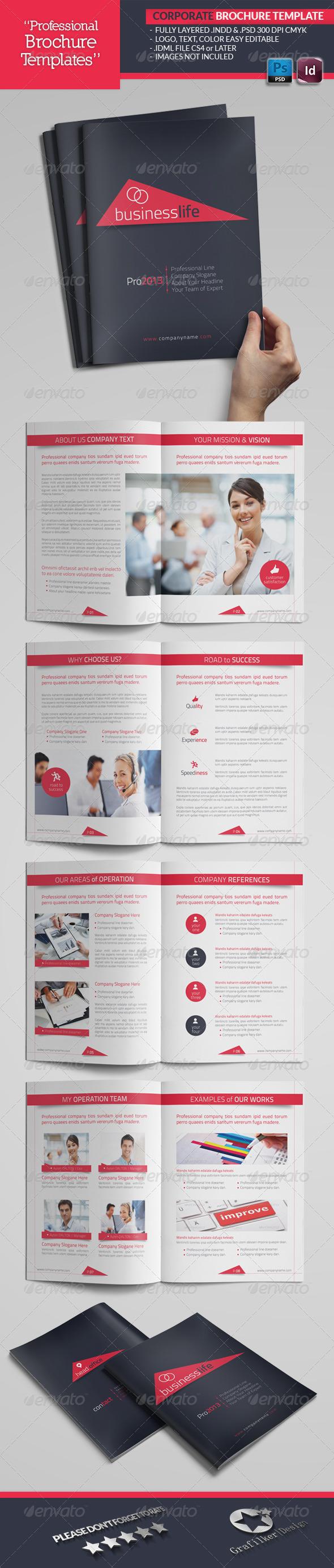 Corporate Catalogue Template by grafilker | GraphicRiver