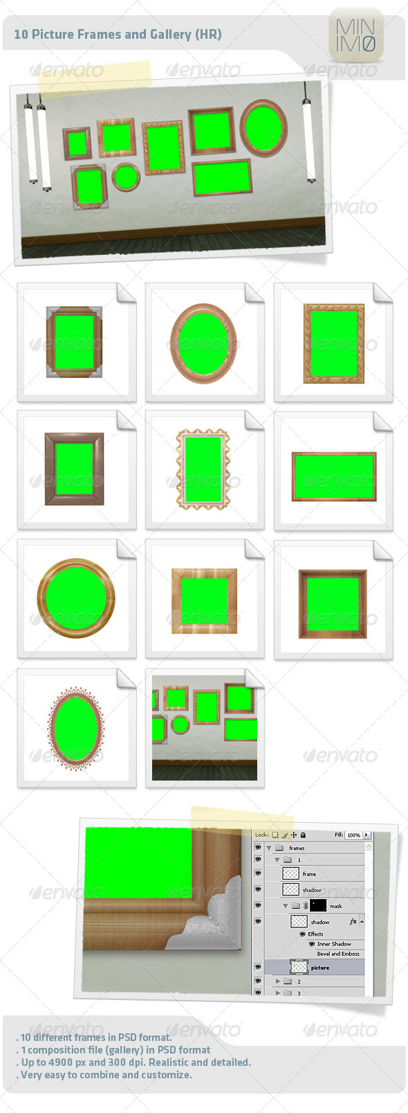 10 Picture Frames And Gallery (HR) - Decorative Graphics