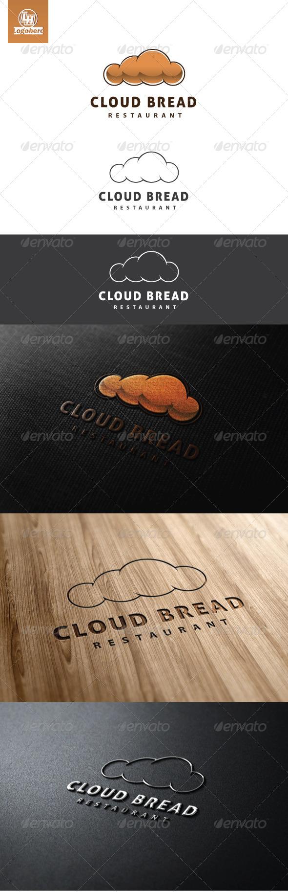 Cloud Bread Logo Template - Food Logo Templates