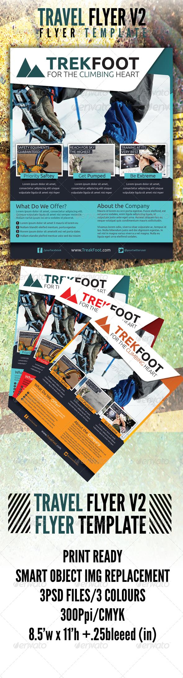 Hiking Travel Flyer v2 - Flyers Print Templates