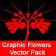 Graphic Flowers Vector Pack - GraphicRiver Item for Sale