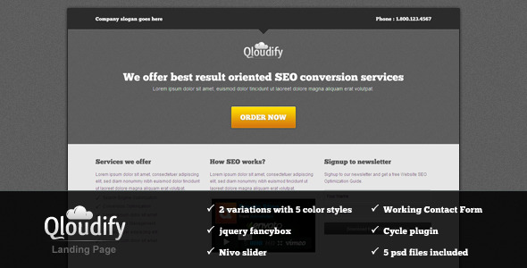 Free Download Qloudify Business Landing Page Nulled Latest Version