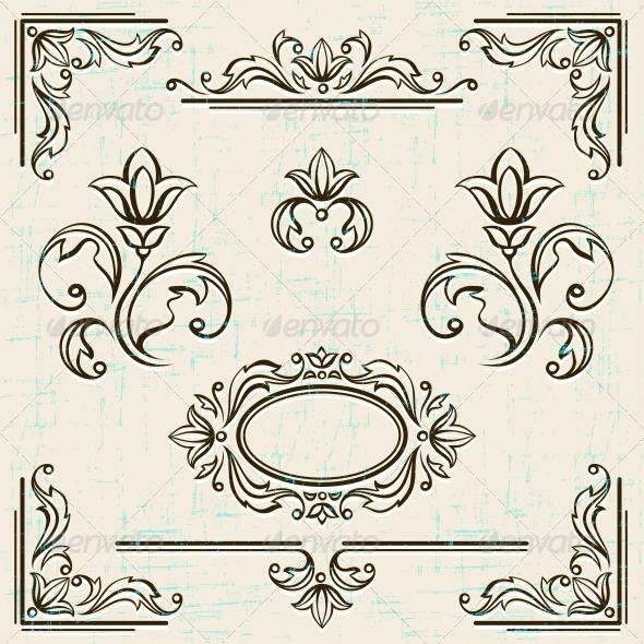Page Decoration Vintage Frames. - Decorative Symbols Decorative
