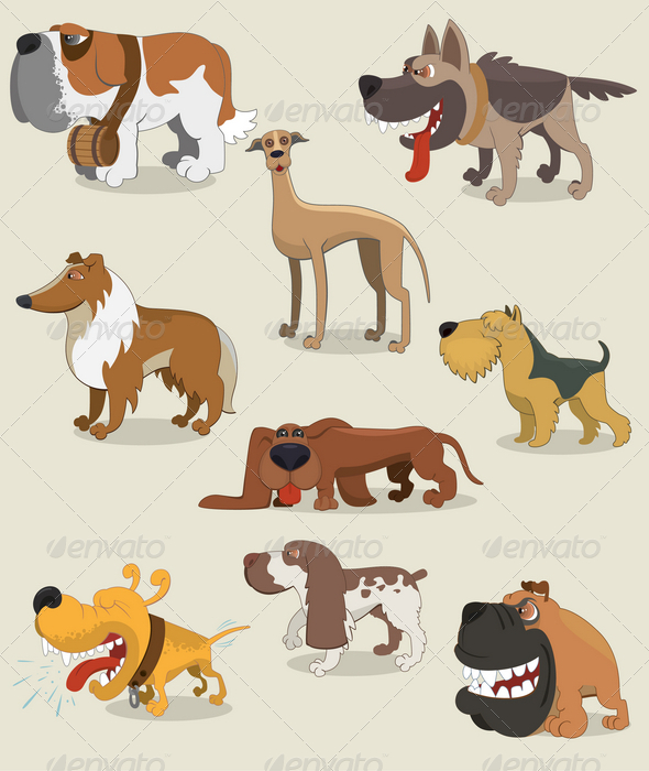 Cartoon Dogs Collection - Animals Characters
