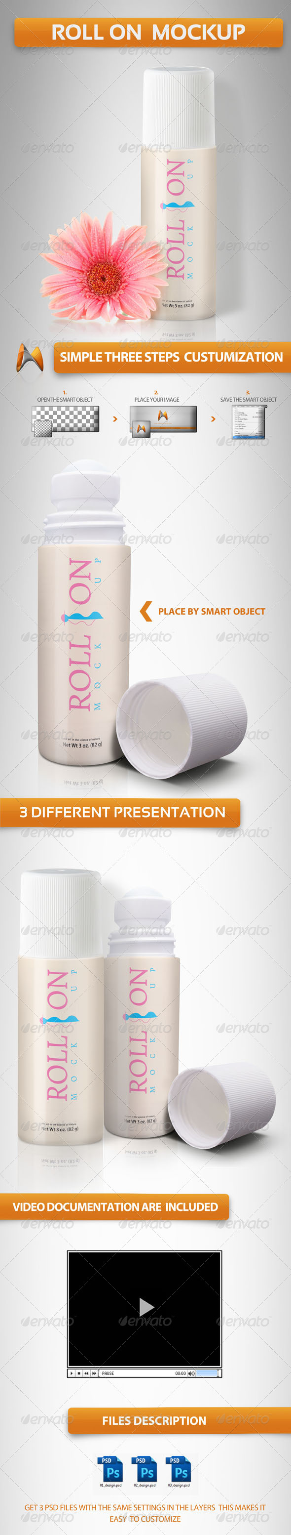 Roll on Mockup - Miscellaneous Packaging