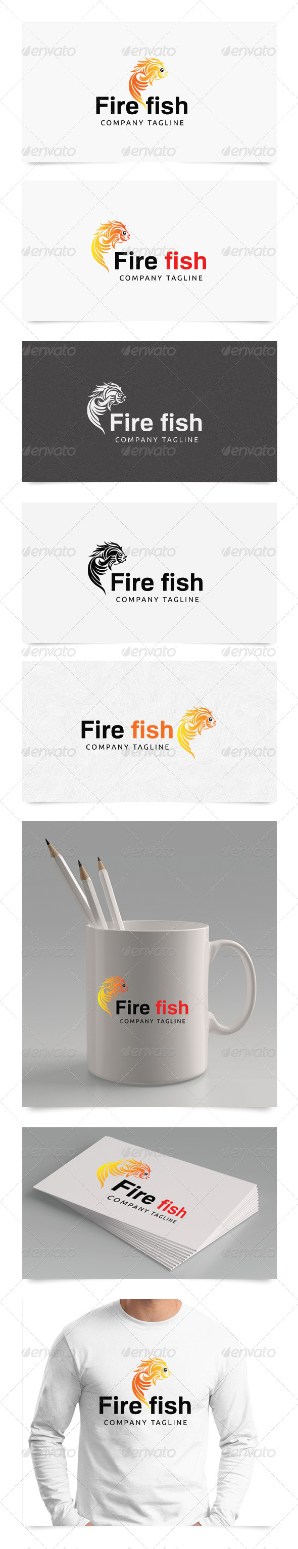 Fire Fish - Symbols Logo Templates