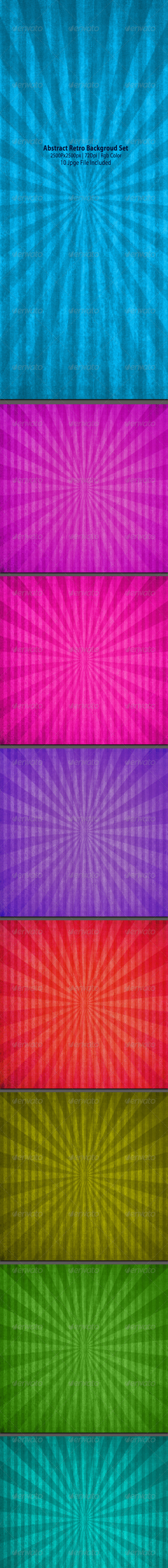 Abstract Retro Background Set - Abstract Backgrounds