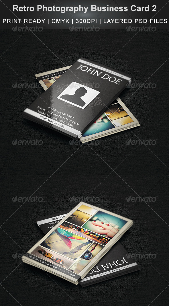 Retro Photography Business Card 2 - Creative Business Cards