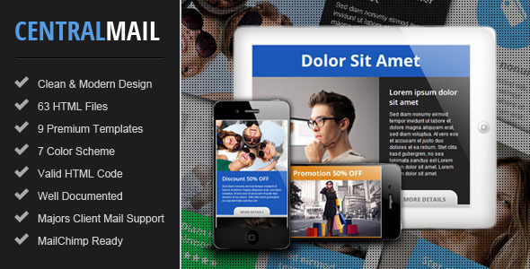 Central – Responsive Email Newsletter Template