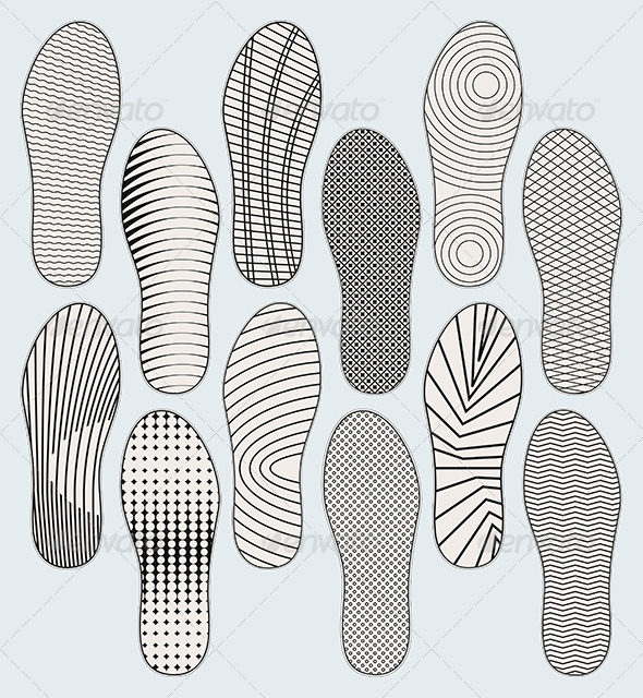 Shoe Soles - Miscellaneous Vectors
