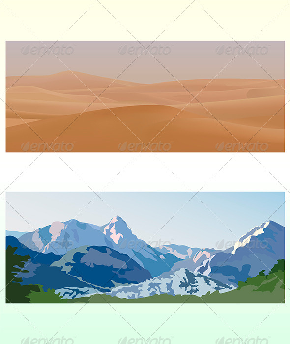 Mountain and Desert Landscapes - Landscapes Nature