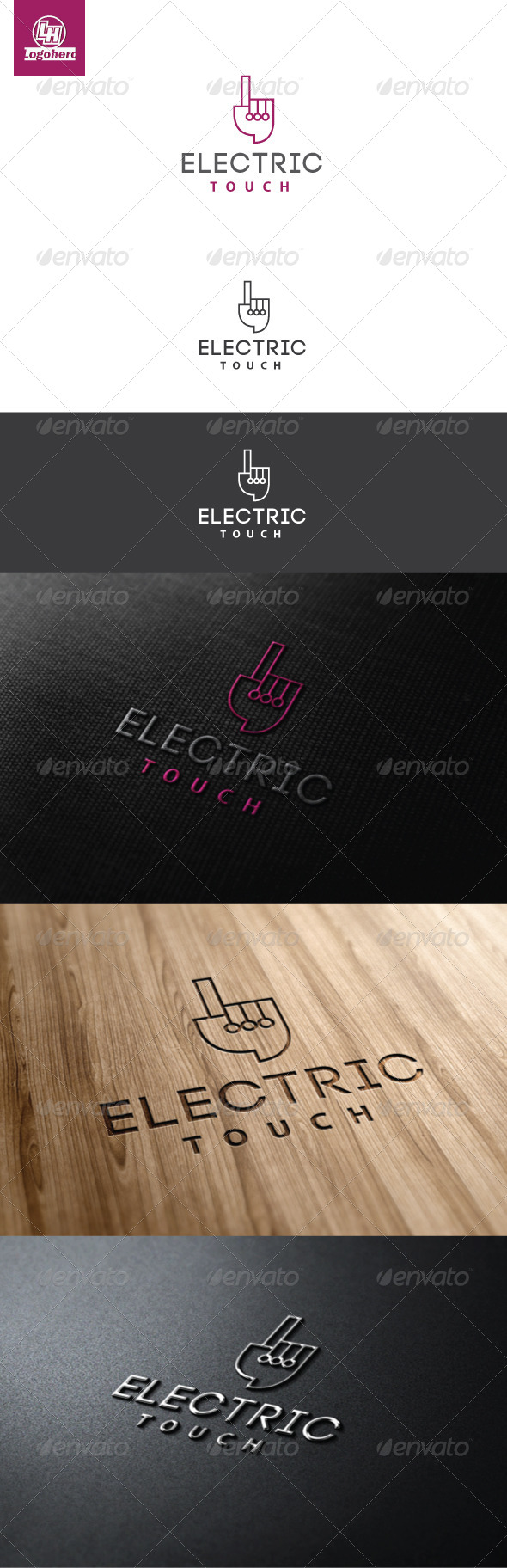 Electric Touch Logo Template - Symbols Logo Templates