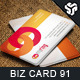 Business Card Design 91 - GraphicRiver Item for Sale