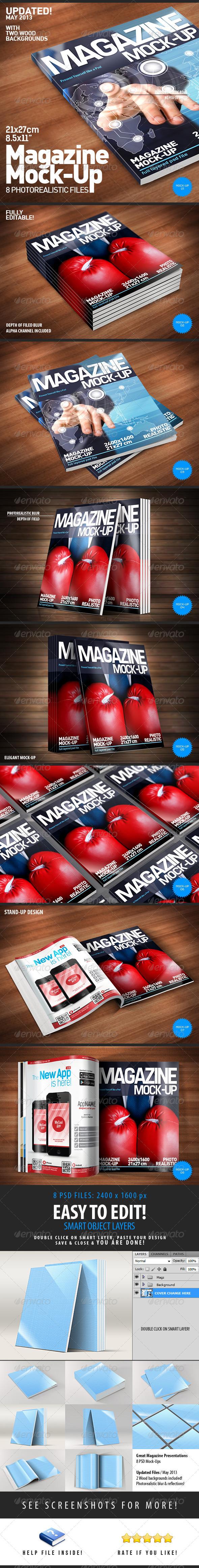 Photorealistic Magazine Mock-Up - Magazines Print