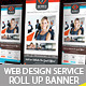 Web Design Service Roll Up Banner Signage - 1 - GraphicRiver Item for Sale
