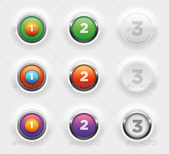 Button Collection - Miscellaneous Vectors