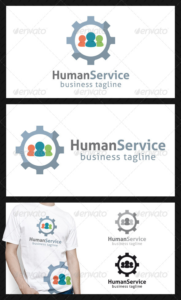 Human Service Logo Template - Humans Logo Templates