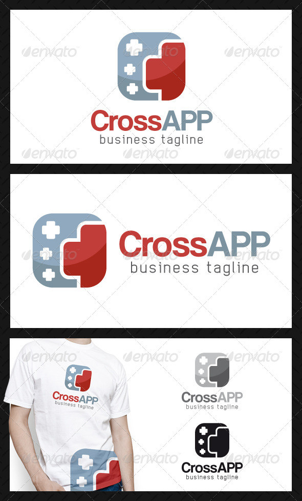 Red Cross App Logo Template - Objects Logo Templates