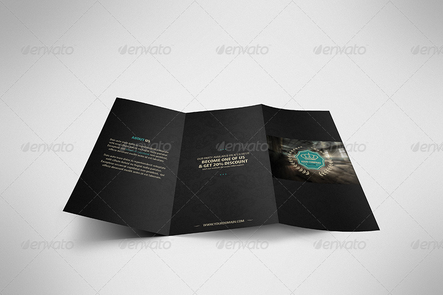 luxury retro brochure tri