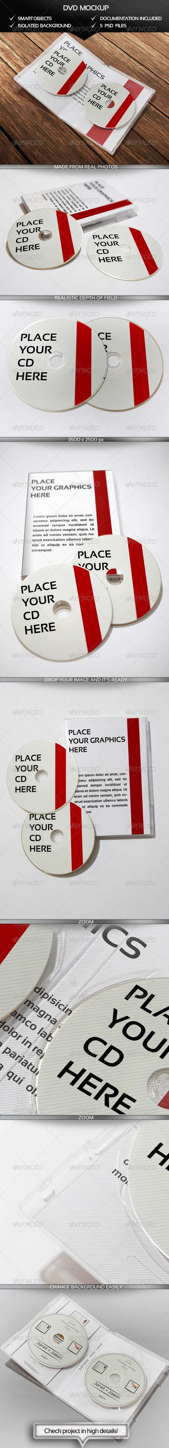 DVD Mockup - Discs Packaging