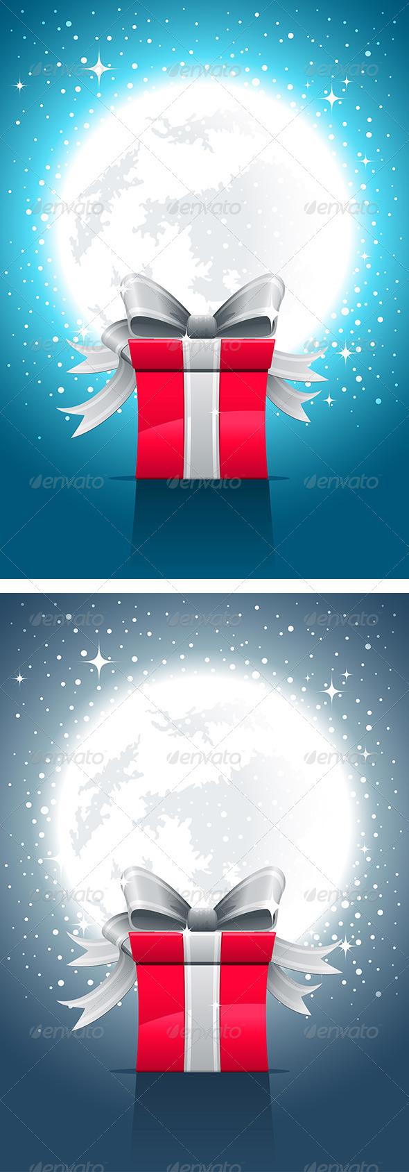 Fullmoon, Night And Gift Box - Seasons/Holidays Conceptual