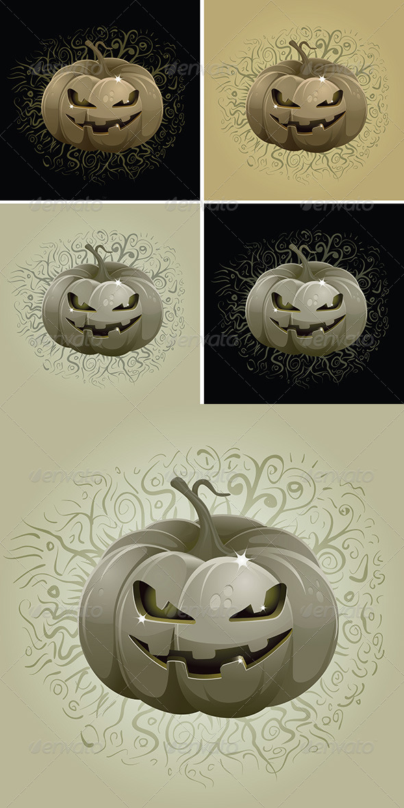 Dark Pumpkin Set - Objects Vectors