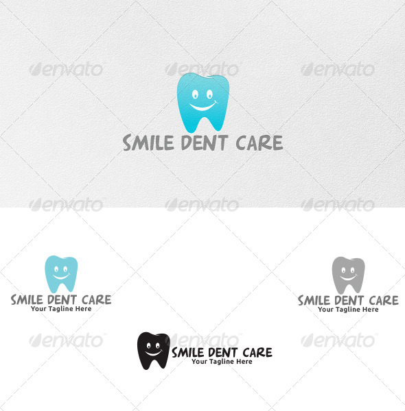 Smile Dent Care - Logo Template - Vector Abstract