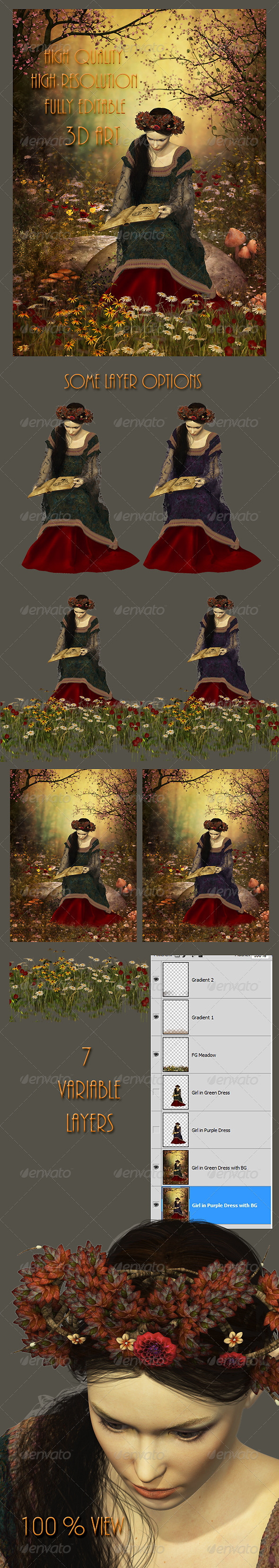 A Woman Reading a Book - Illustrations Graphics