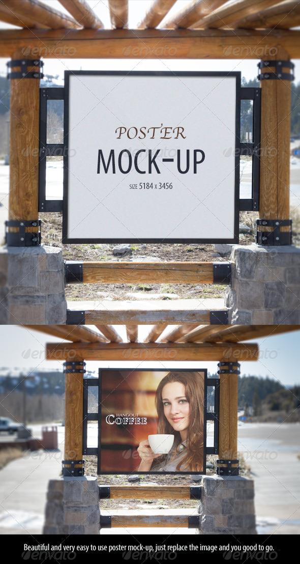 Poster Mock-up - Signage Print
