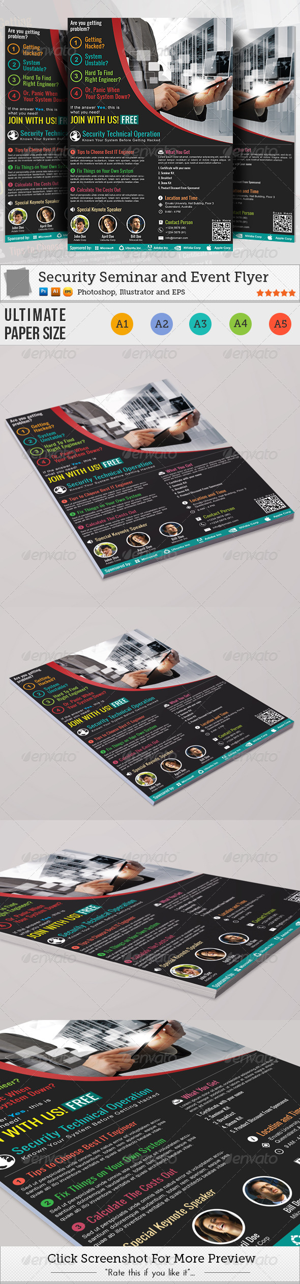 Security Seminar and Event Flyer - Corporate Flyers