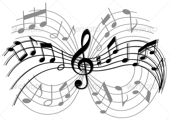 Abstract Musical Composition - Miscellaneous Vectors
