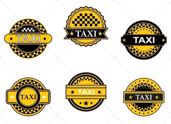 Taxi Symbols and Signs - Decorative Symbols Decorative
