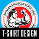 Bodybuilder T-shirt Design - GraphicRiver Item for Sale