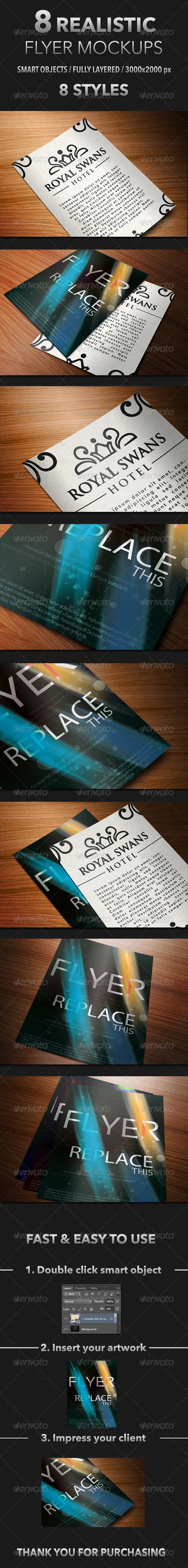 8 Realistic Flyer Mockups - Flyers Print