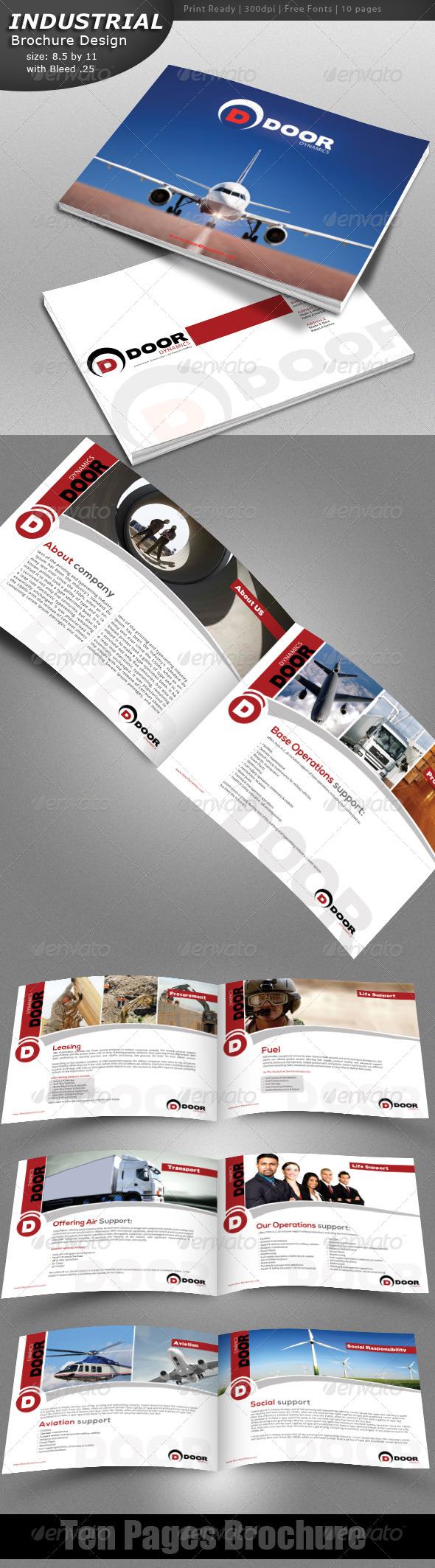 Indestrial Brochure - Brochures Print Templates
