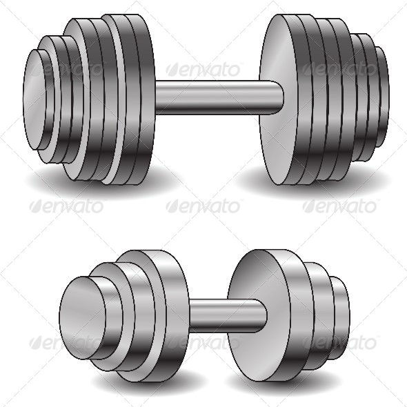 Two Dumbbells - Sports/Activity Conceptual