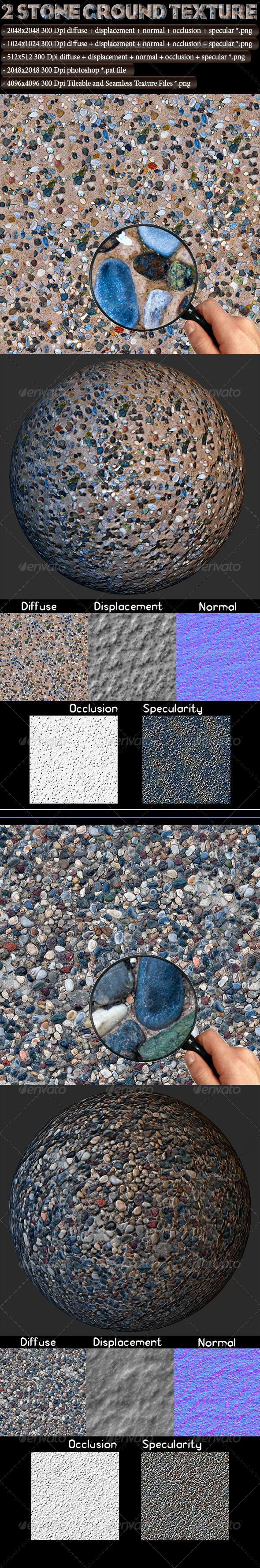 2 Stone Ground Texture - 3DOcean Item for Sale