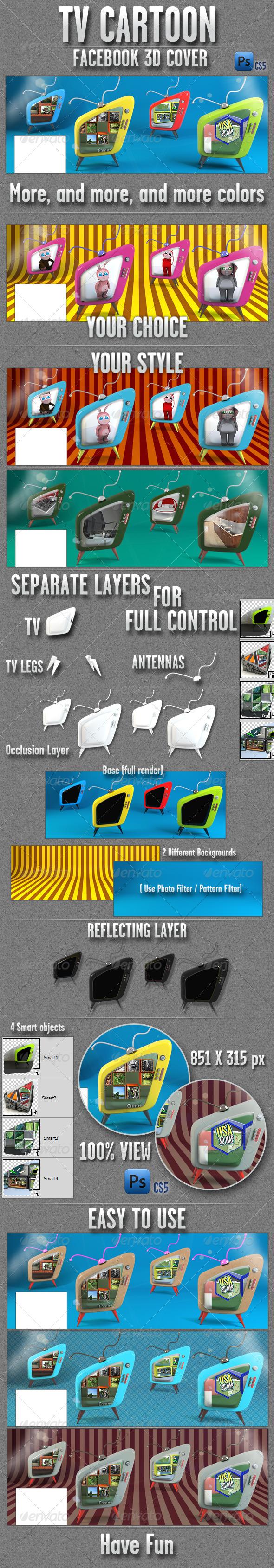 FB 3D TV Cover - Facebook Timeline Covers Social Media