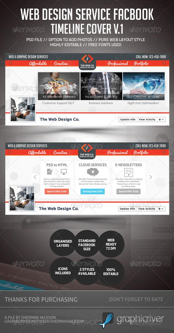 Web Design Service Facebook Timeline Cover - Facebook Timeline Covers Social Media