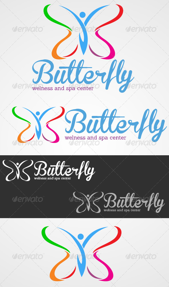 Butterfly - Welness And Spa Center - Vector Abstract