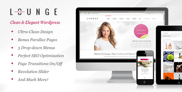 Lounge – Clean Elegant WordPress Theme