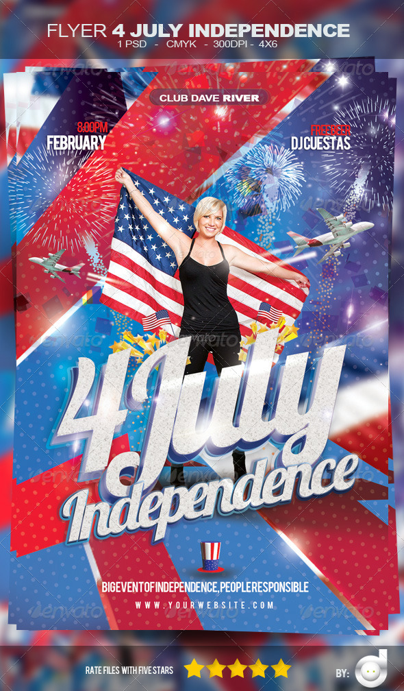 Flyer Independence Day  Template By DavidFlash  Graphicriver