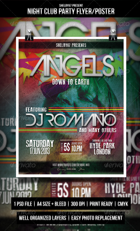 Night Club Party Flyer / Poster - Events Flyers